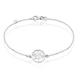 Bracelet Argent Rhodie Mely Arbre - Bracelets fantaisie Femme | Histoire d'Or