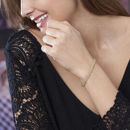 Bracelet Jerry Maille Corde 3 Rangs Or Jaune - Bijoux Femme | Histoire d'Or