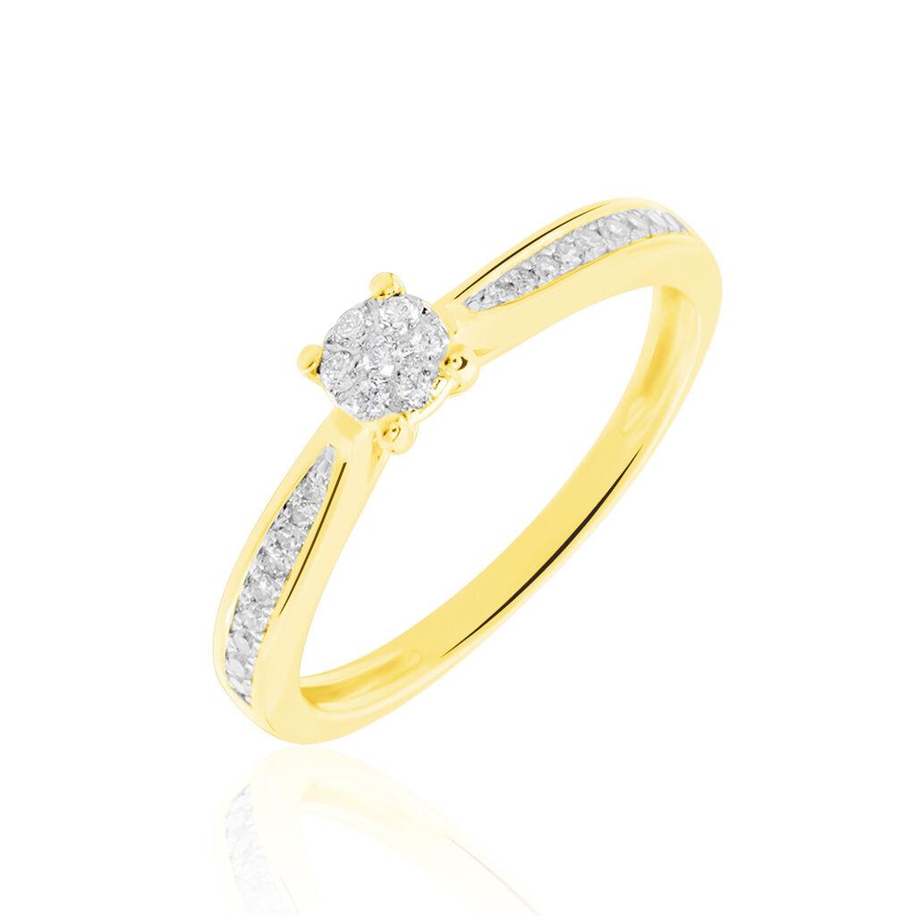 Bague Celia Or Jaune Diamant - Bagues avec pierre Femme   Histoire d'Or