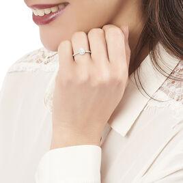 Bague Solitaire Tatiana Or Blanc Diamant - Bagues solitaires Femme | Histoire d'Or