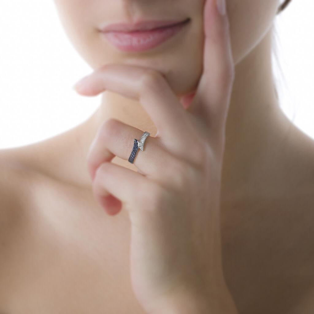 Bague Salma Or Blanc Saphir Et Diamant - Bagues avec pierre Femme | Histoire d'Or