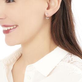 Bijoux D'oreilles Dolfina Or Rose Oxyde De Zirconium - Boucles d'Oreilles Etoile Femme | Histoire d'Or