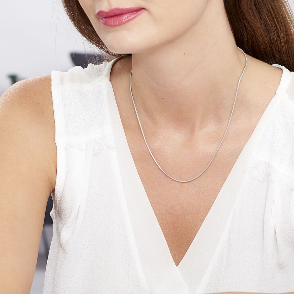 Chaine Argent Maille Queue De Souris - Chaines Femme   Histoire d'Or