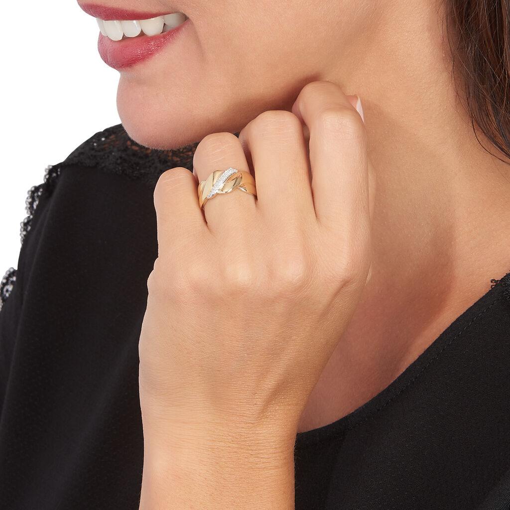 Bague Darie Or Jaune Diamant - Bagues avec pierre Femme | Histoire d'Or