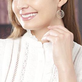 Boucles D'oreilles Pendantes Slorane Argent Rose - Boucles d'oreilles fantaisie Femme | Histoire d'Or