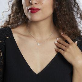 Collier Takiyah Argent Blanc Oxyde De Zirconium - Colliers fantaisie Femme   Histoire d'Or