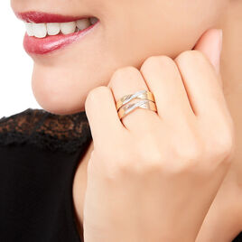 Bague Salima Or Bicolore Diamant - Bagues avec pierre Femme | Histoire d'Or