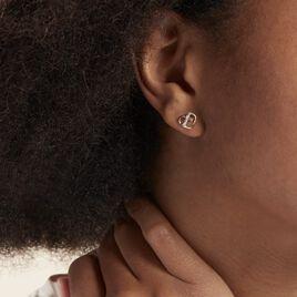 Boucles D'oreilles Puces Juliane Or Jaune Diamant - Boucles d'Oreilles Coeur Femme | Histoire d'Or