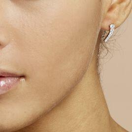 Bijoux D'oreilles Aldrick Argent Blanc Oxyde De Zirconium - Boucles d'oreilles fantaisie Femme | Histoire d'Or