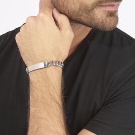 Gourmette Acier - Bracelets fantaisie Homme | Histoire d'Or