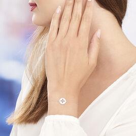 Bracelet Ema Argent Blanc Oxyde De Zirconium - Bracelets fantaisie Femme   Histoire d'Or