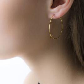 Créoles Muses Flexibles Or Jaune - Boucles d'oreilles créoles Femme   Histoire d'Or