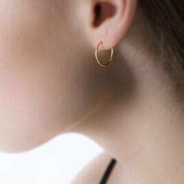 Créoles Dominae Flexible Or Jaune - Boucles d'oreilles créoles Femme | Histoire d'Or