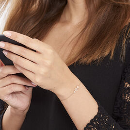 Bracelet Angellina Argent Rose Oxyde De Zirconium - Bracelets fantaisie Femme | Histoire d'Or