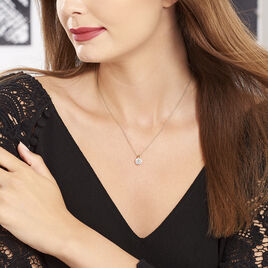 Collier Nelina Plaque Or Jaune Oxyde De Zirconium - Colliers fantaisie Femme | Histoire d'Or