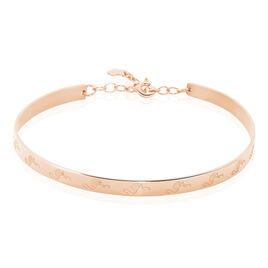 Bracelet Jonc Flammingo Argent Rose - Bracelets fantaisie Femme | Histoire d'Or