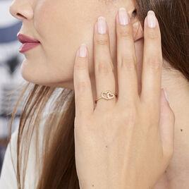 Bague Marijana Plaque Or Jaune Oxyde De Zirconium - Bagues Coeur Femme | Histoire d'Or