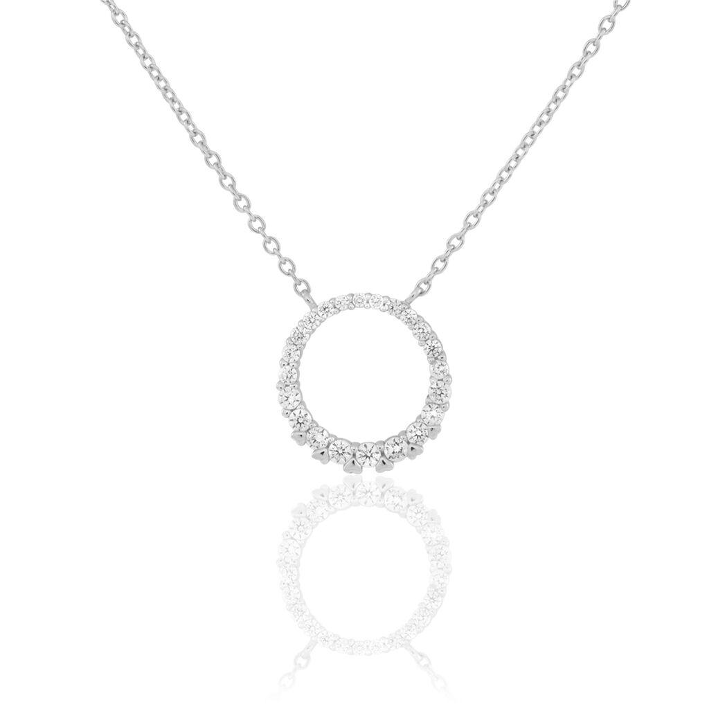 Collier Elaïs Argent Blanc Oxyde De Zirconium - Colliers fantaisie Femme   Histoire d'Or