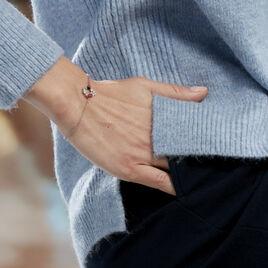 Bracelet Eliniane Argent Blanc Oxyde De Zirconium - Bracelets fantaisie Femme   Histoire d'Or