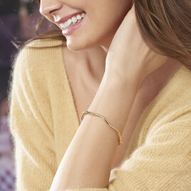 Bracelet Jonc Jennie Ondule Or Jaune - Bracelets joncs Femme | Histoire d'Or