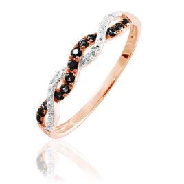 Bague Sofia Or Rose Diamant - Bagues avec pierre Femme   Histoire d'Or