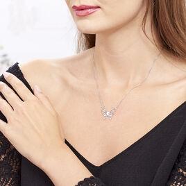 Collier Volantia Argent Blanc - Colliers Papillon Femme   Histoire d'Or