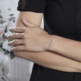 Bracelet Nevarte Argent Blanc Oxyde De Zirconium - Bracelets fantaisie Femme   Histoire d'Or