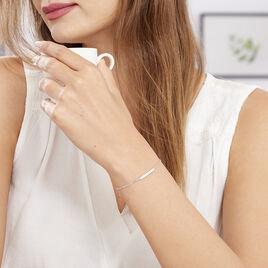 Bracelet Kiara Argent Blanc Oxyde De Zirconium - Bracelets fantaisie Femme | Histoire d'Or