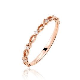 Bague Imagine Or Rose Diamant - Bagues avec pierre Femme | Histoire d'Or