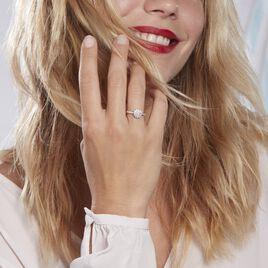 Bague Chouchou Platine Blanc Diamant - Bagues avec pierre Femme   Histoire d'Or