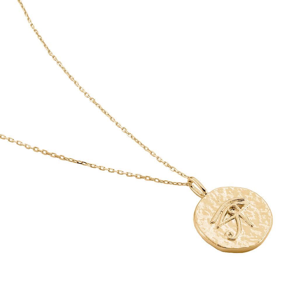 Collier Britaney Plaque Or Jaune - Colliers fantaisie Femme | Histoire d'Or