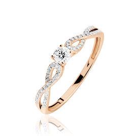 Bague Solitaire Livia Or Rose Diamant - Bagues avec pierre Femme | Histoire d'Or