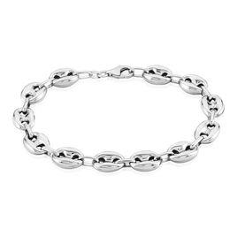 Bracelet Carrus Maille Grain De Cafe Argent Blanc - Bracelets chaîne Homme | Histoire d'Or