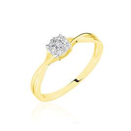 Bague Imelie Or Jaune Diamant - Bagues avec pierre Femme   Histoire d'Or
