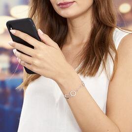 Bracelet Entrelle Argent Blanc - Bijoux Femme | Histoire d'Or