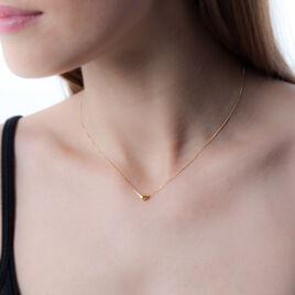 Collier Elissandre Or Jaune - Colliers Coeur Femme   Histoire d'Or