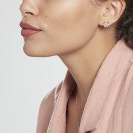 Boucles D'oreilles Puces Argent Rhodié Giustino Oxydes De Zirconium - Boucles d'oreilles fantaisie Femme   Histoire d'Or