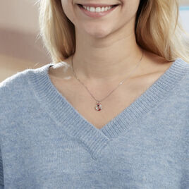 Collier Eliniane Argent Blanc Oxyde De Zirconium - Colliers fantaisie Femme   Histoire d'Or