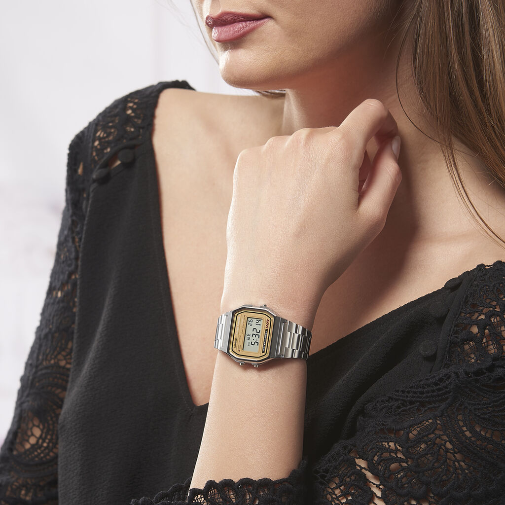 Montre Casio Collection Vintage Argent - Montres sport Unisexe | Histoire d'Or