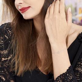 Bracelet Peytone Argent Blanc - Bracelets fantaisie Femme | Histoire d'Or