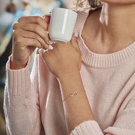 Bracelet Heimdall Or Jaune Oxyde De Zirconium - Bracelets Infini Femme   Histoire d'Or