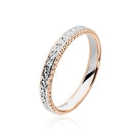 Alliance Multi Facettes Diamantee Demi Jonc Classique Or Bicolore - Alliances Femme | Histoire d'Or