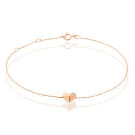 Bracelet Or Rose Et Diamants Lizia - Bracelets Coeur Femme | Histoire d'Or