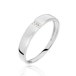 Bague Soha Or Blanc Diamant - Bagues avec pierre Femme | Histoire d'Or