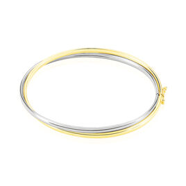 Bracelet Jonc Or Bicolore  - Bracelets joncs Femme | Histoire d'Or