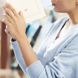 Bracelet Rana Argent Blanc Oxyde De Zirconium - Bracelets Coeur Femme | Histoire d'Or