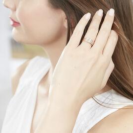 Bague Rama Or Tricolore Oxyde De Zirconium - Bagues avec pierre Femme   Histoire d'Or