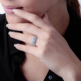 Bague Rayanna Or Blanc Diamant - Bagues avec pierre Femme   Histoire d'Or