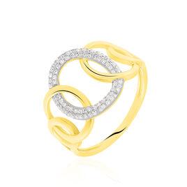 Bague Daniyah Or Jaune Diamant - Bagues avec pierre Femme   Histoire d'Or