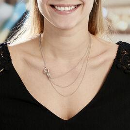 Collier Abassia Argent Blanc - Colliers double et triple chaines Femme | Histoire d'Or